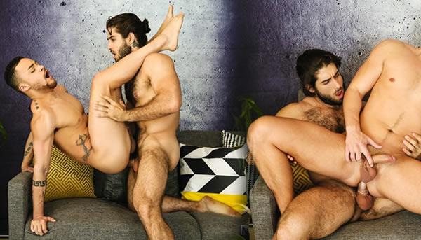 Diego Sans; Jardineiro gostoso fodendo os clientes; Sexo Gay; 3way; threesome;